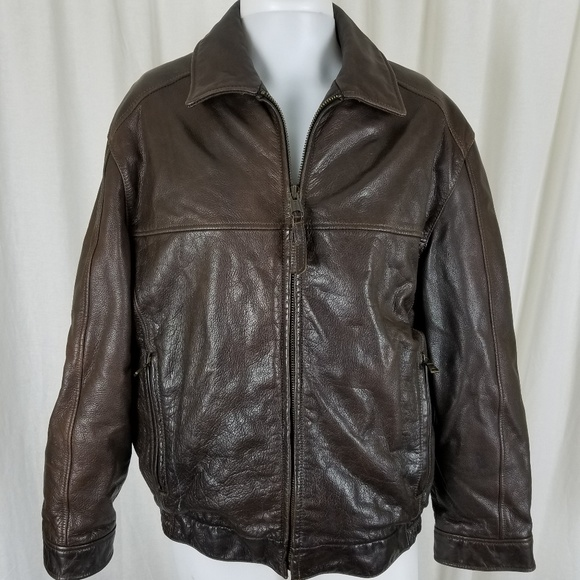 Andrew Marc Other Marc New York Brown Leather Quilted Bomber